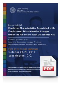 Employer Characteristics Associated with Employment Discrimination Charges under the Americans with Disabilities Act